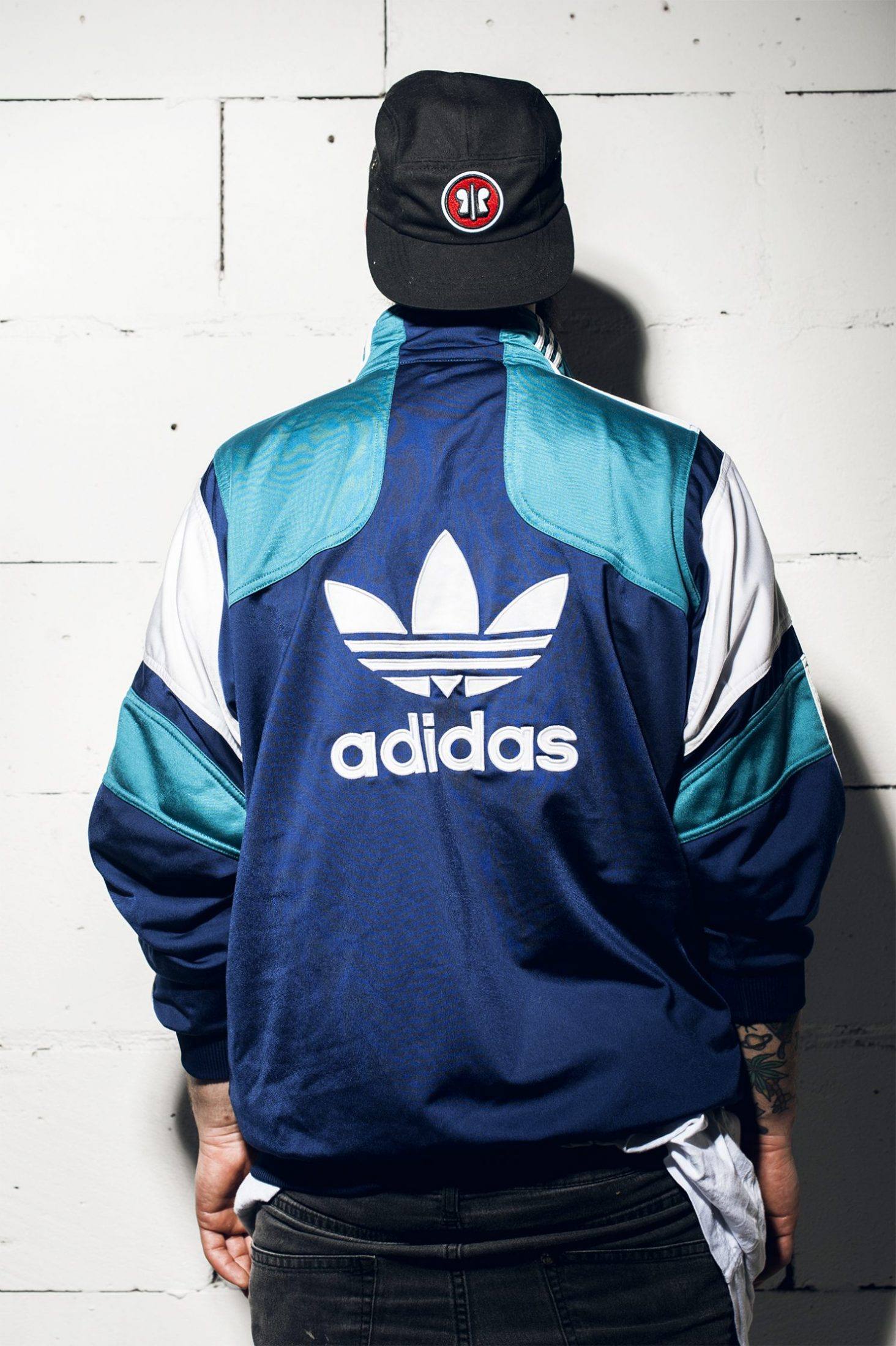 Adidas vintage sport jacket men | GreenBlue