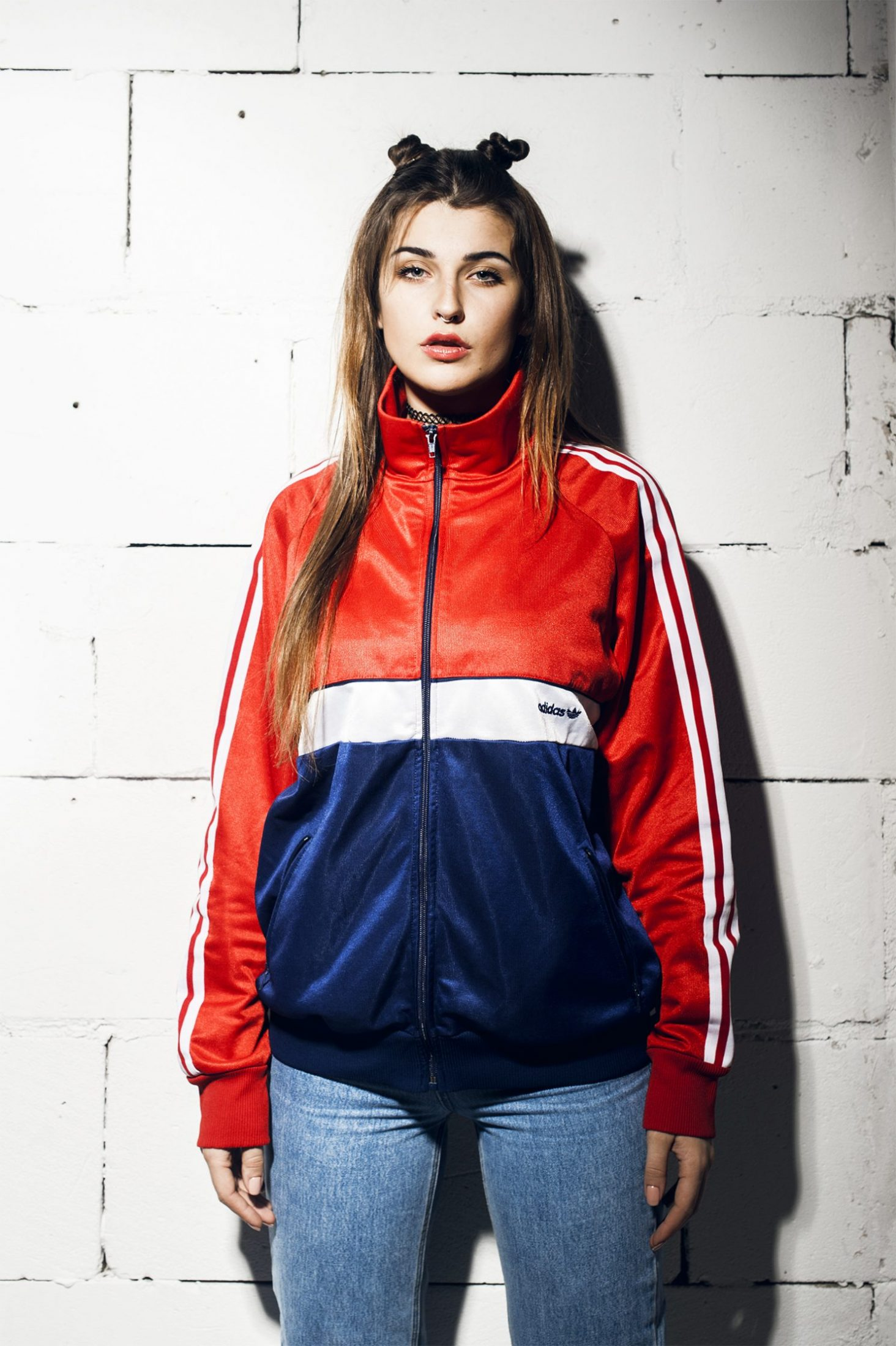 Adidas Originals vintage jacket Red