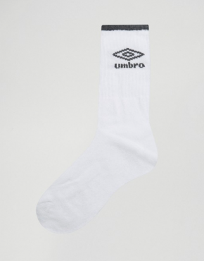 Umbro crew white 3 pack socks