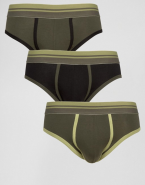 Khaki vintage style mens underwear
