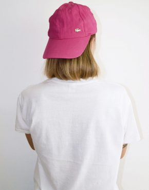 Lacoste pink baseball cap