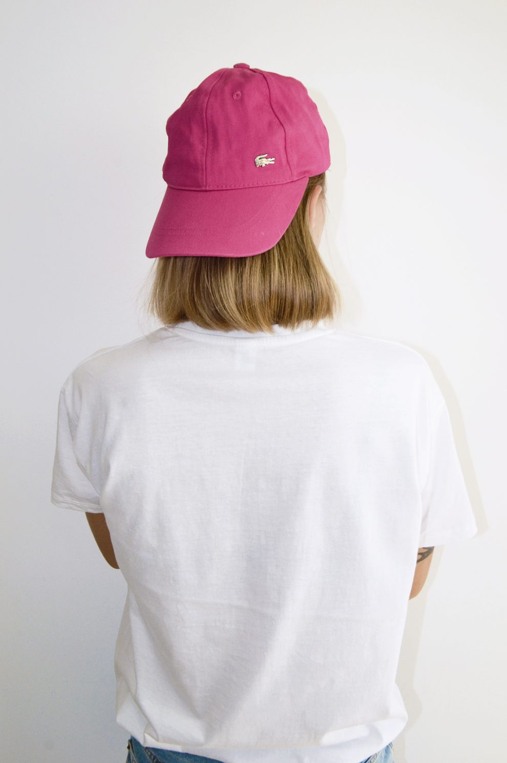 fa618b27965 Out of stock. Lacoste pink baseball cap