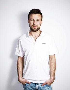 REEBOK white polo shirt