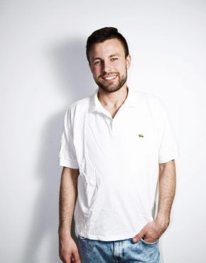 LACOSTE white polo shirt