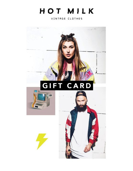 Vintage clothing gift card