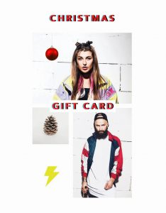 Vintage clothing Christmas gift card