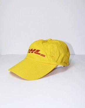 DHL logo yellow baseball cap