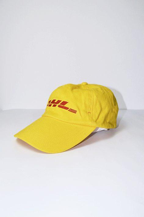 Dhl Logo Yellow Baseball Cap Hot Milk Vintage Clothing