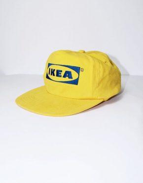 IKEA logo yellow snapback cap