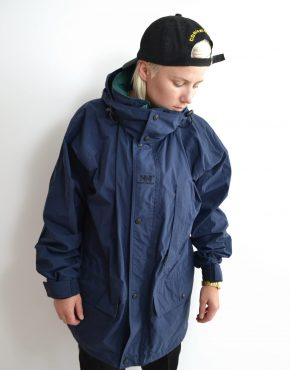 Helly Hansen blue windbreaker jacket
