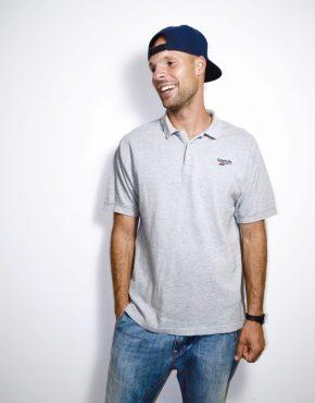 REEBOK grey polo shirt