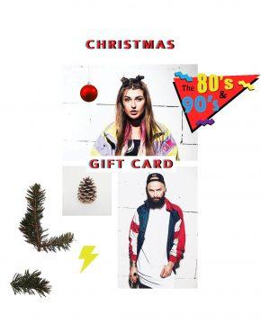 Vintage 80s retro clothing Christmas gift card