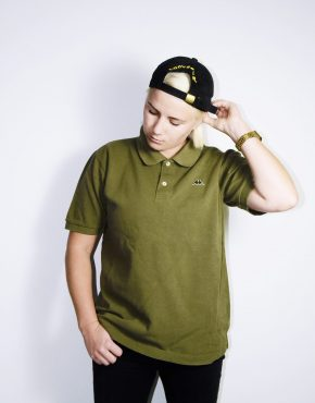 KAPPA vintage khaki polo shirt