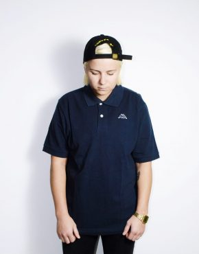 KAPPA vintage blue polo shirt