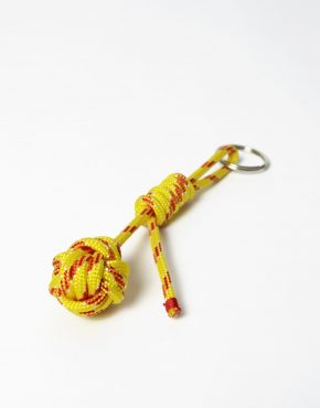Nautical rope keyring yellow