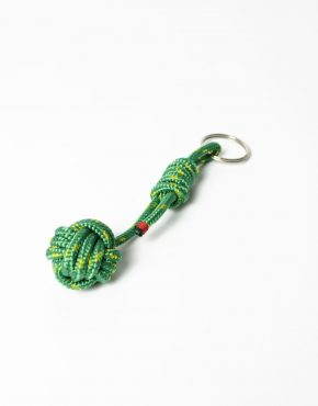 Nautical rope keyring green