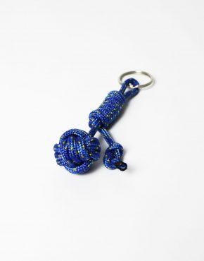 Nautical rope keyring blue
