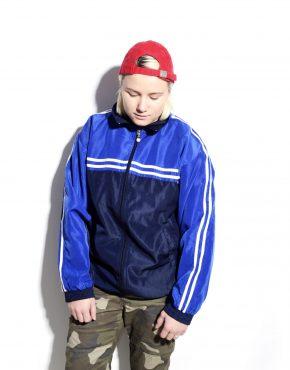 Blue shell jacket