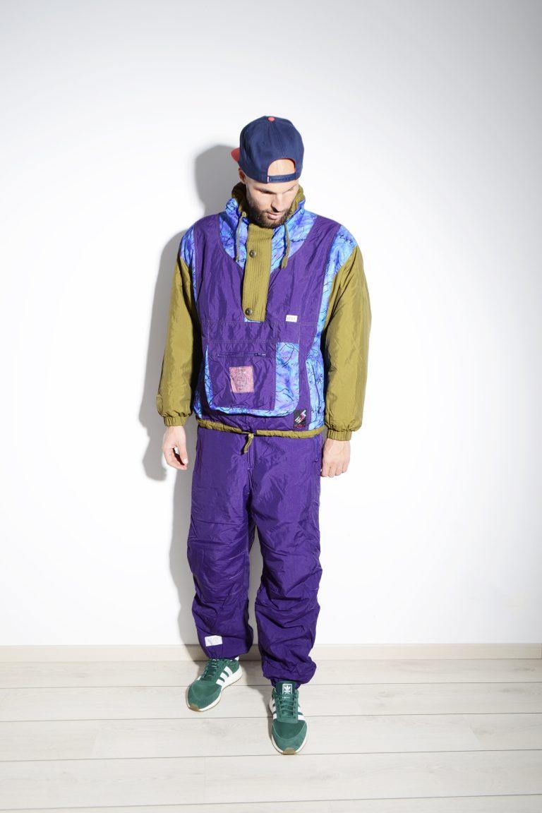 Vintage Ski Snowboarding Suit Retro