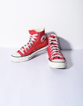 Converse red womens sneakers