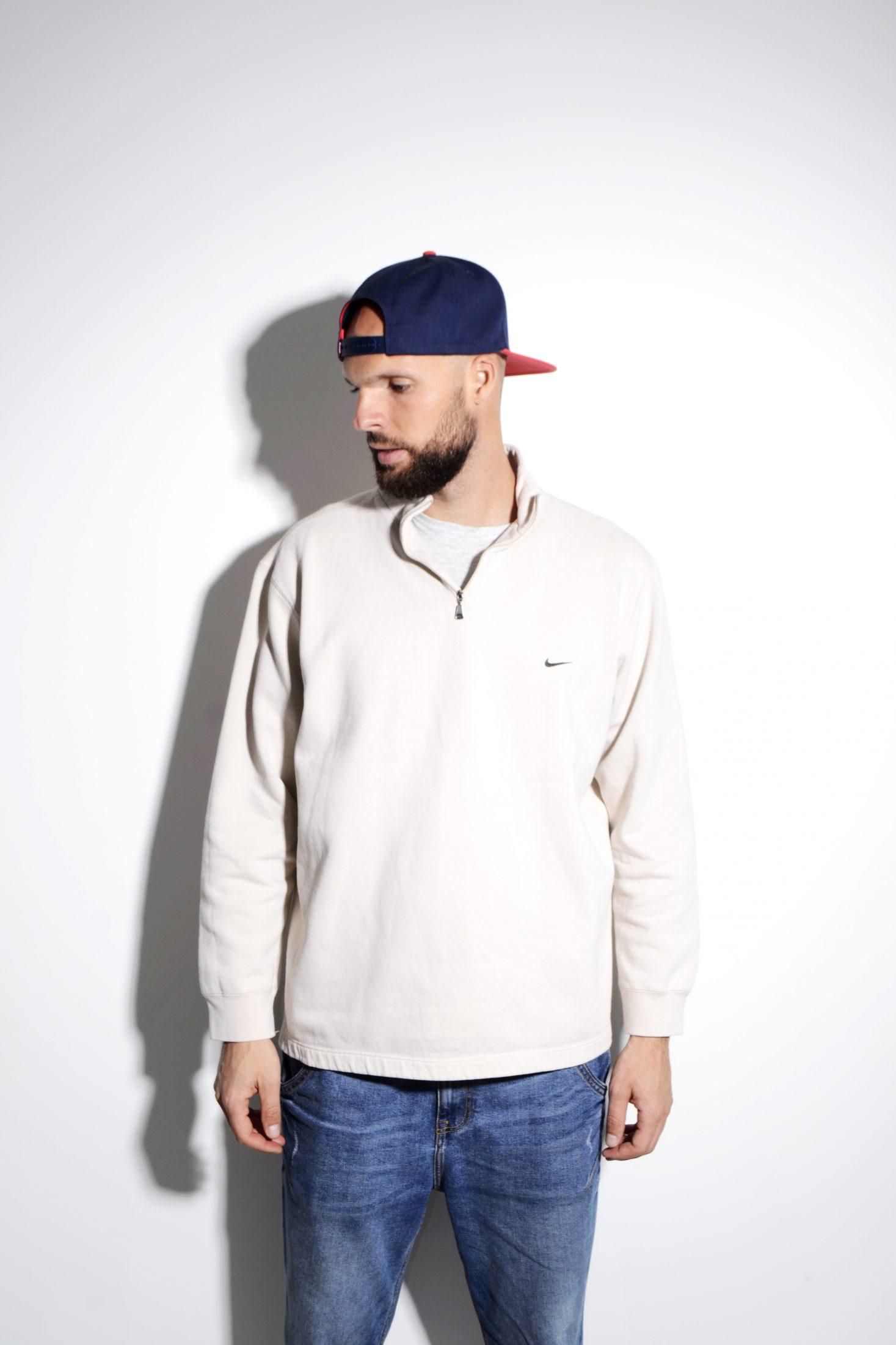 nike 1/4 zip sweatshirt vintage