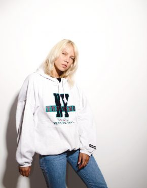 Adidas vintage hooded sweatshirt