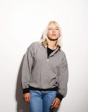 Vintage grey 1/4 zip sweater