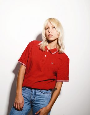 Champion red polo shirt