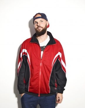 Vintage red mens track jacket
