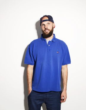 TOMMY HILFIGER blue polo shirt
