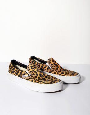 Vans Leopard Print Slip On Trainers