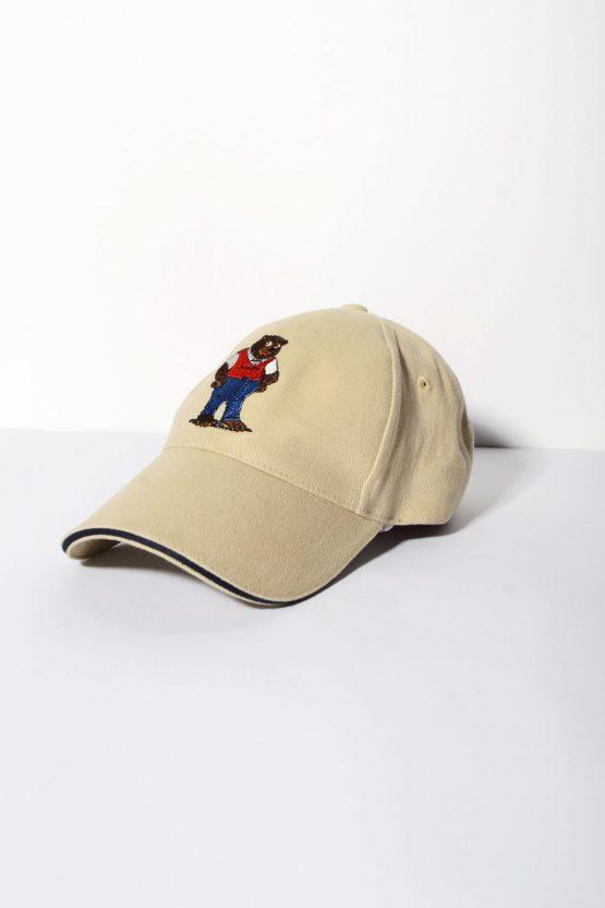 Vintage brown small baseball cap