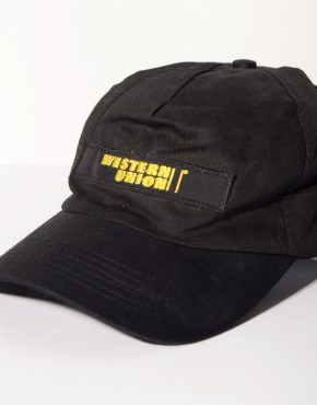 Western Union security black cap