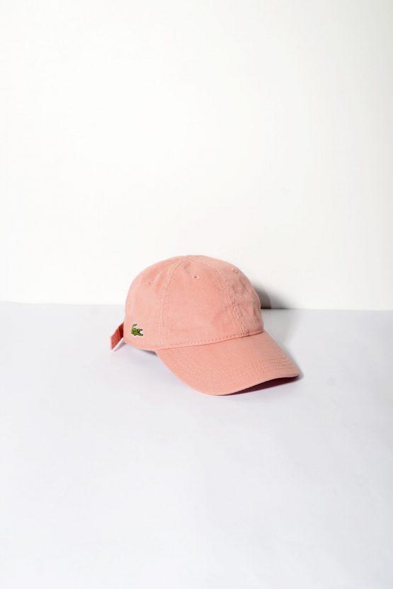 LACOSTE vintage pink baseball cap