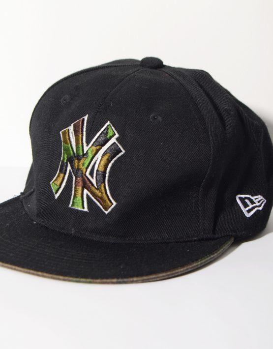 New York Yankees black camo full cap