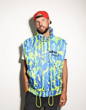 90s festival vest jacket