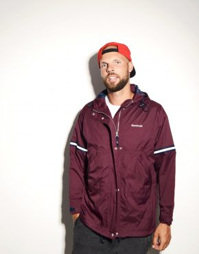Reebok burgundy jacket