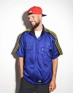 Short sleeve blue track jacket