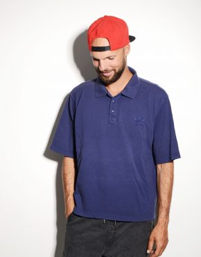Adidas blue polo shirt