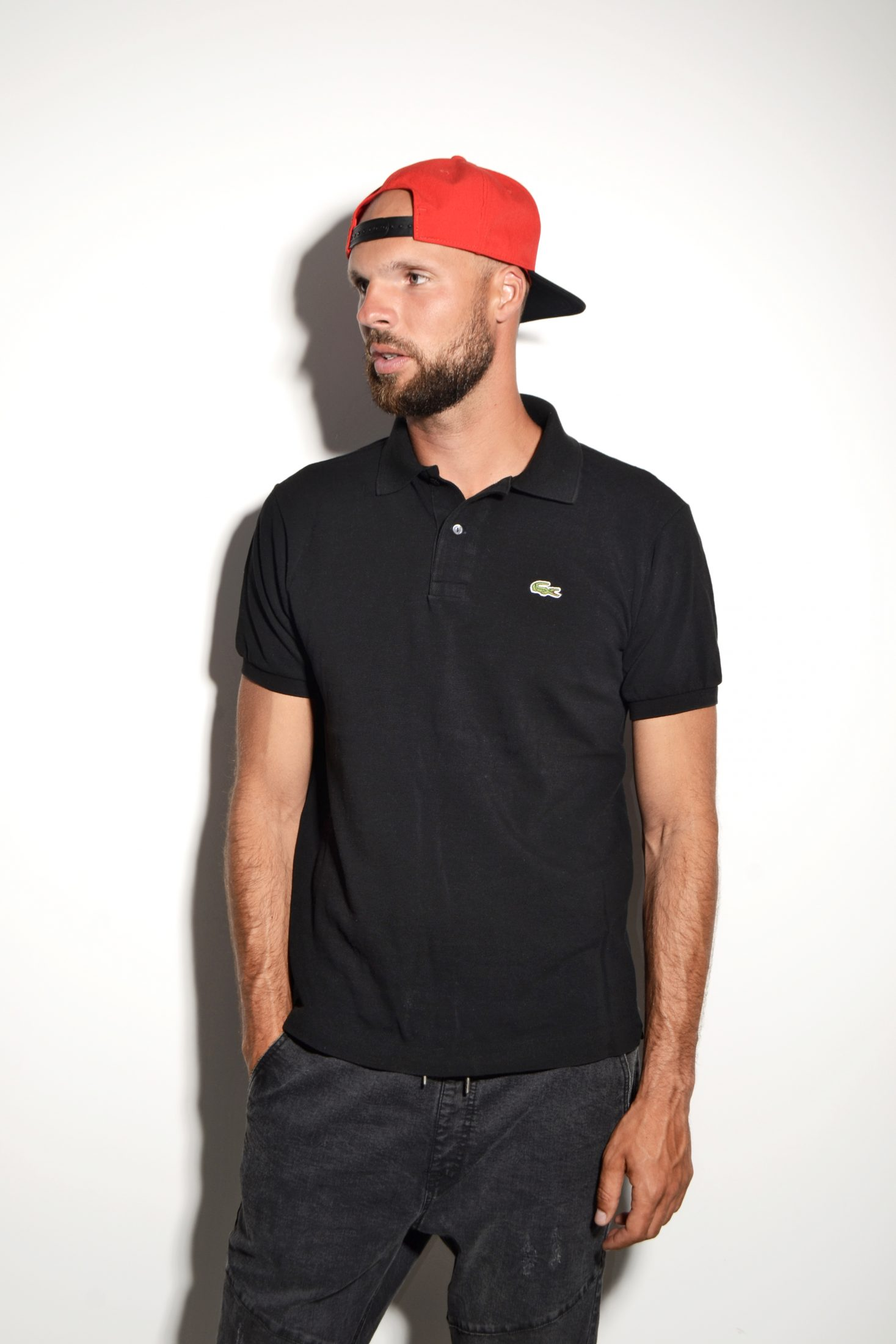 9b110bd7 Lacoste polo shirt black