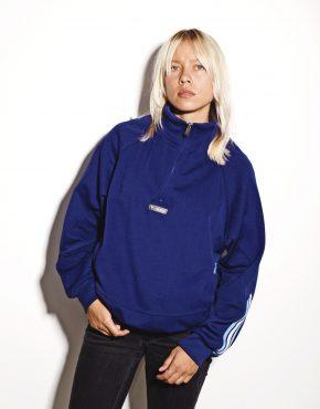 Vintage pullover sweatshirt blue