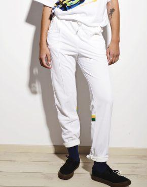 Vintage festival track pants white