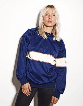 90s pullover sweatshirt blue