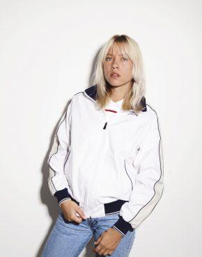 Kappa track jacket white