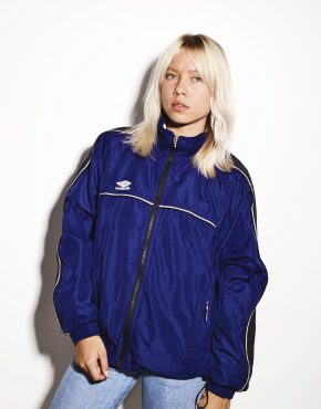 Umbro vintage windbreaker blue