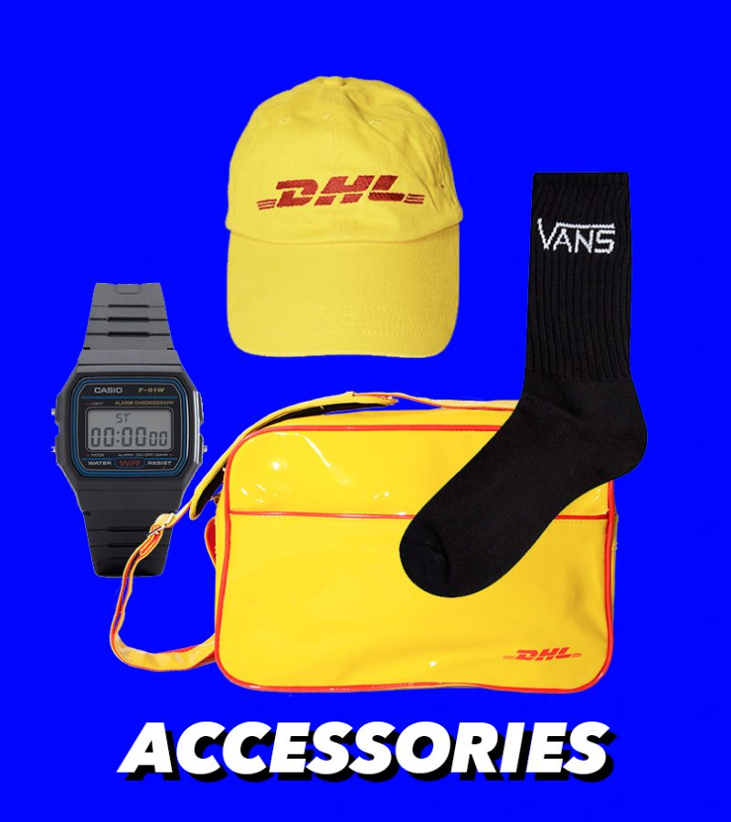 Vintage accessories: bags, watches, socks, caps