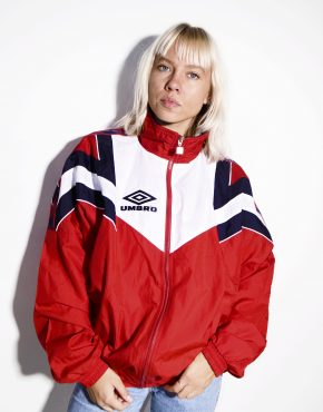 Umbro vintage windbreaker red
