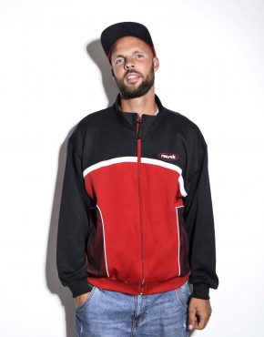 vintage jacket red black