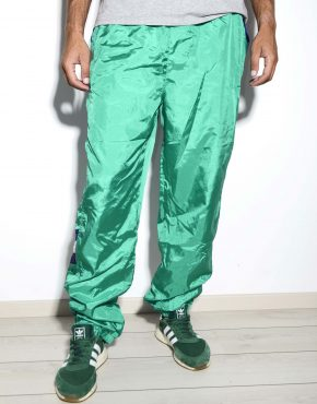 Vintage green shell sport pants