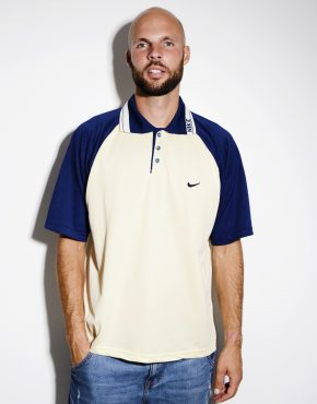 Nike vintage polo shirt mens
